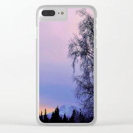 Chugach Mts Serenity Sunrise - I Clear iPhone Case