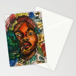 rapper,lyric,smoke,wall art,fan art,music,hiphop,rap,rapper,legend,shirt,print,chancee Stationery Cards