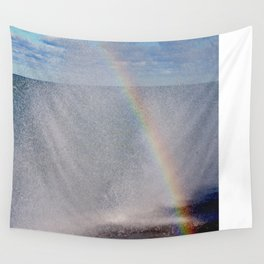 Lake Michigan Natural Fountains #5 - Sunbow (Chicago Waves Collection) Wall Tapestry