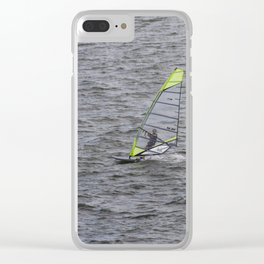 Wind Surfing in Key Biscayne Miami Clear iPhone Case