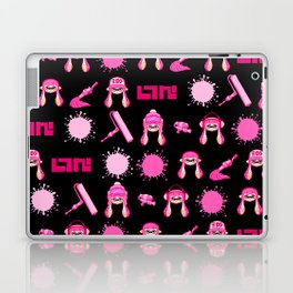 Team Pink Splatoon Pattern Laptop & iPad Skin