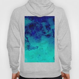Mermaid paradise | blue ombre turquoise watercolor Hoody