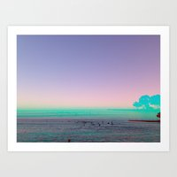 Surf Set Sun Art Print
