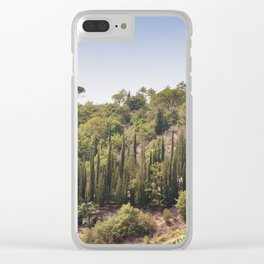 Tuscan Countryside Clear iPhone Case