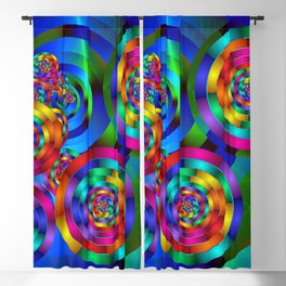 Rainbow Rings Blackout Curtain