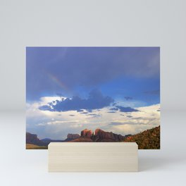 Hint of a Rainbow over Sedona by Reay of Light Mini Art Print