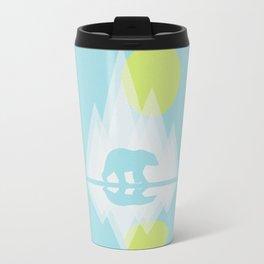 Polar Bear Abstract icecap Landscape Surrealism Art Travel Mug