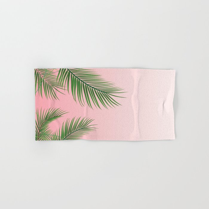 Palm Tree Leaves Hand Bath Towel