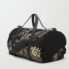 Combination Baroque and Flowers Duffle Bag