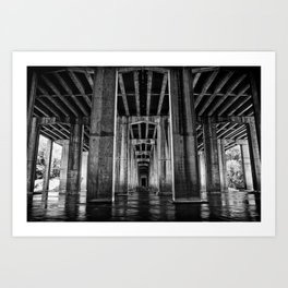 River Cathedral Art Print
