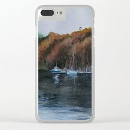 Harbor on the Thames River, CT Clear iPhone Case