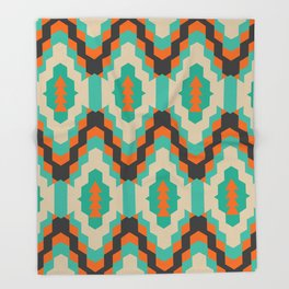 Ethnic winter pattern II Throw Blanket