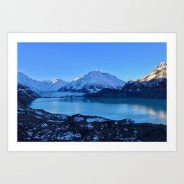 Tasman Glacier Valley Art Print