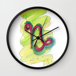 Capricorn Flow Wall Clock