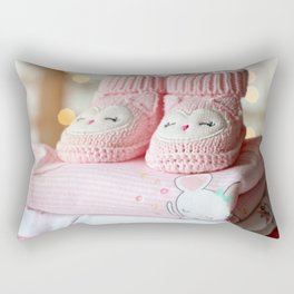 Booties for Baby Girl Rectangular Pillow