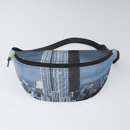 Empire State Building Blimp Docking Sepia Fanny Pack