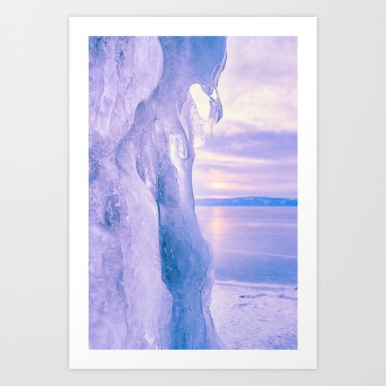 Ice cliff of Lake Baikal Art Print