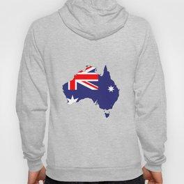 Australia Flag Map Hoody