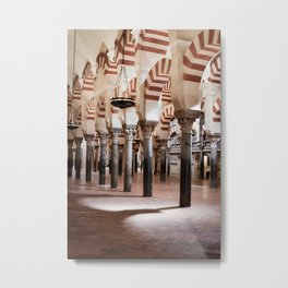 Infinite Pillars (Mosque-Cathedral of Cordoba) Metal Print