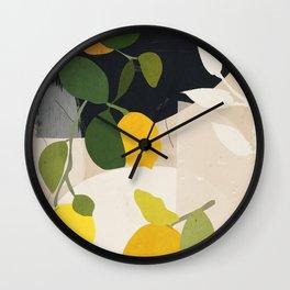 Lemon Abstract Art Wall Clock