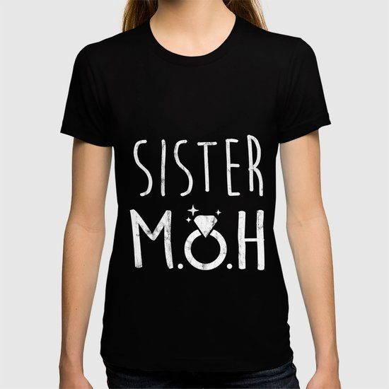 Sister Maid Of Honor Bride And Groom Wedding Gift T-shirt