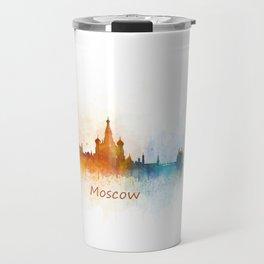 Moscow City Skyline art HQ v3 Travel Mug