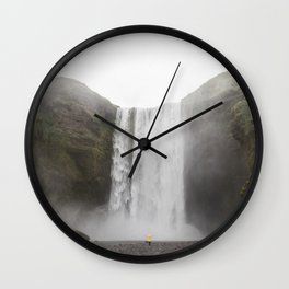 Skógafoss waterfall - lanscape photography Wall Clock