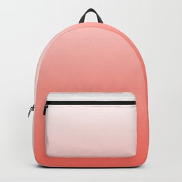 Living Coral Ombre - Coral and White Backpack