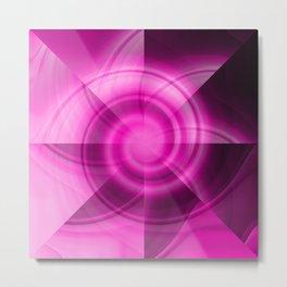 Pink & Purple Windmill Metal Print