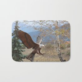 American Eagle in Autumn Bath Mat