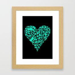 Boombox Heart Framed Art Print