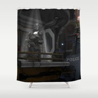 trooper Shower Curtains featuring Future Trooper by gypsykissphotography