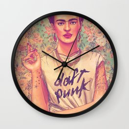 daft frida punk Wall Clock