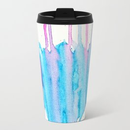 A flower blooms amid a storm Travel Mug