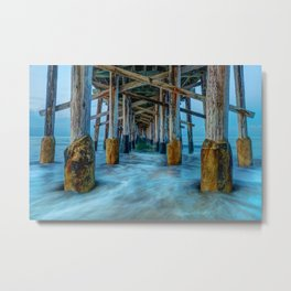 Long Exposure Under Newport Pier Metal Print
