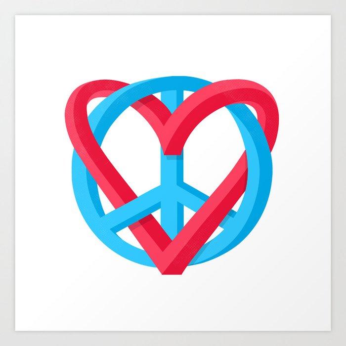 Peace + Love Art Print