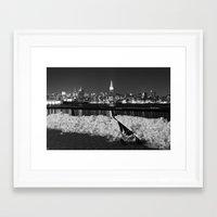 manhattan Framed Art Prints featuring Manhattan by Diego Ituño