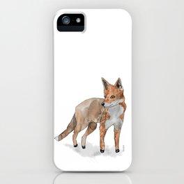 Fox in watercolors iPhone Case