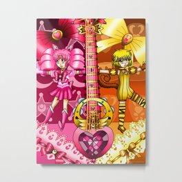 Sailor Mew Guitar #11 - Sailor Chibi Moon & Mew Pudding Metal Print