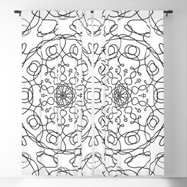 Mandala White Eye Blackout Curtain