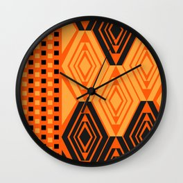 Diamonds and little squares Wall Clock