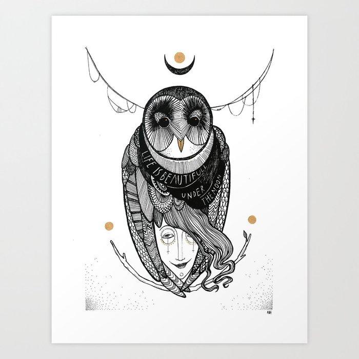 bird women Art Print