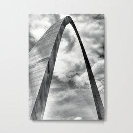 Gateway Arch St Louis MO BW Metal Print