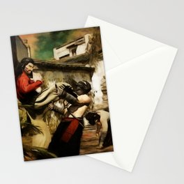 STREET FIGHT Retro Japanese Martial Arts Fight Scene Stationery Cards
