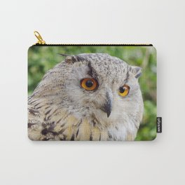 Eagle Owl with glowing eyes Carry-All Pouch