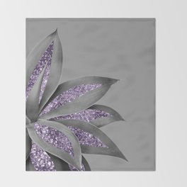 Agave Finesse Glitter Glam #4 #tropical #decor #art #society6 Throw Blanket