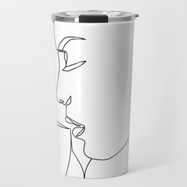 """Profile Collection"" - Woman Drinking Coffee Travel Mug"