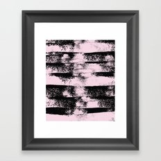 Pink Black Abstract texture  Framed Art Print