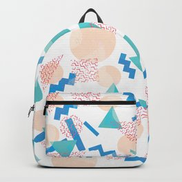 90's Pastel Geometric Pattern Backpack