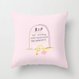 Mistake Throw Pillow